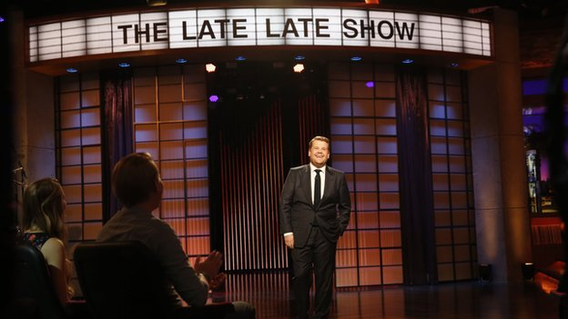 James Corden makes his debut on The Late, Late Show
