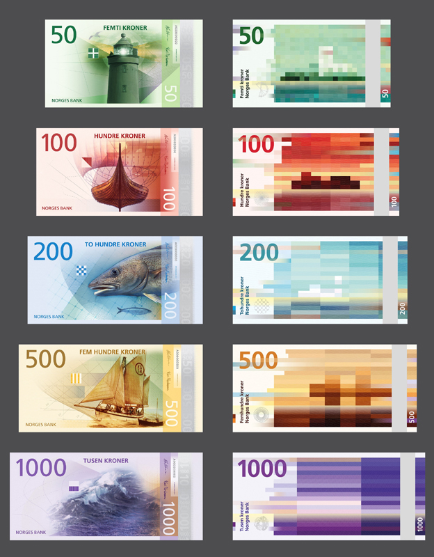 Designs for new Norwegian banknote - finalist in Designs of the Year 2015