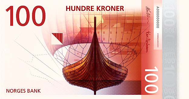 Design for new Norwegian banknote - finalist in Designs of the Year 2015