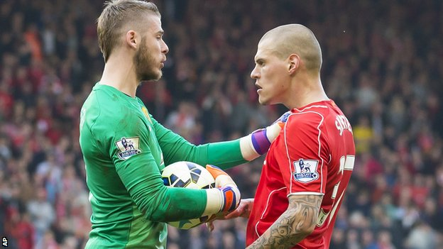 BBC Sport - Martin Skrtel: Liverpool defender denies 'stamp' on David de Gea