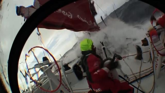 Boat capsizes in ocean race