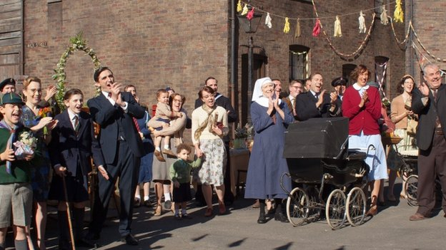 Scene from Call the Midwife, BBC drama