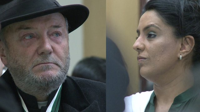 George Galloway and Naz Shah