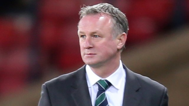 Michael O'Neill saw his side lose to Scotland