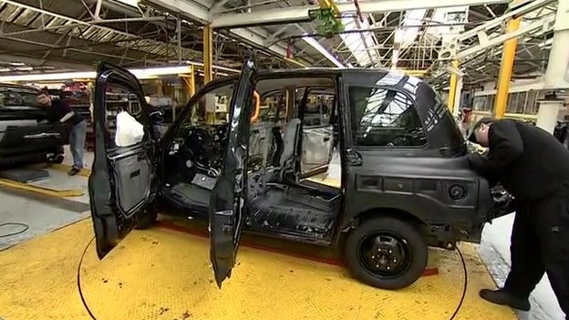 Taxi being made