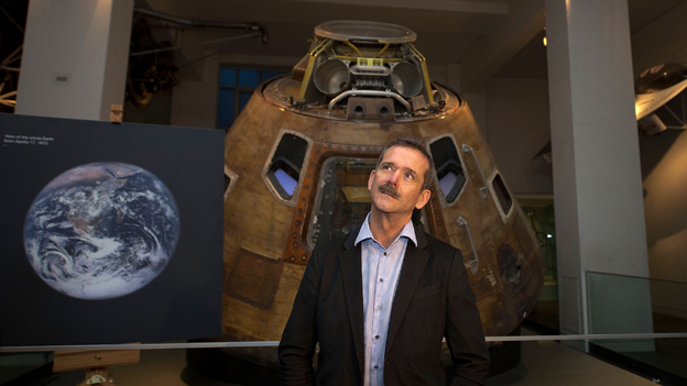 Chris Hadfield pictured at London's Science Museum