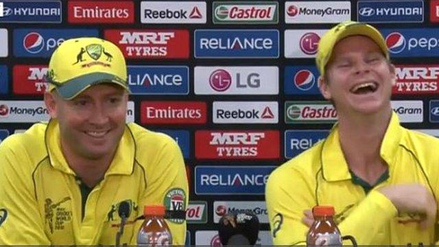 Australia captain Michael Clarke and Steve Smith