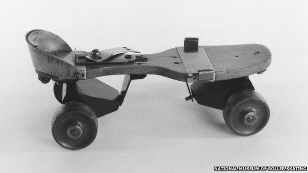 The 1863 four-wheeled roller skate