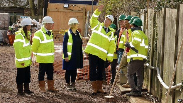 David Cameron visiting a housing development in west London