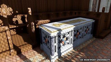 Computer reconstruction of original tomb