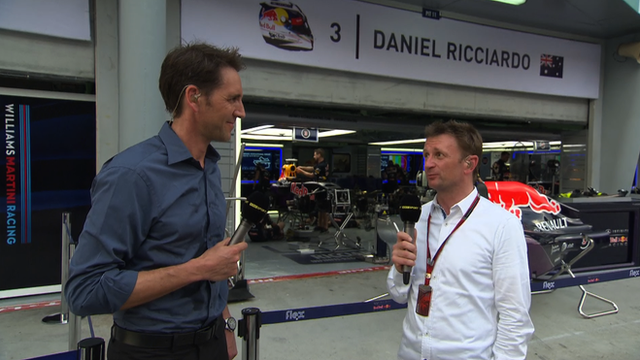 Tom Clarkson is joined by Allan McNish for Inside F1 (L-R)