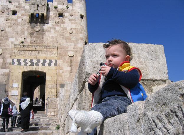 Zaid at the citadel in Aleppo