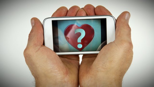 Picture of iphone with heart