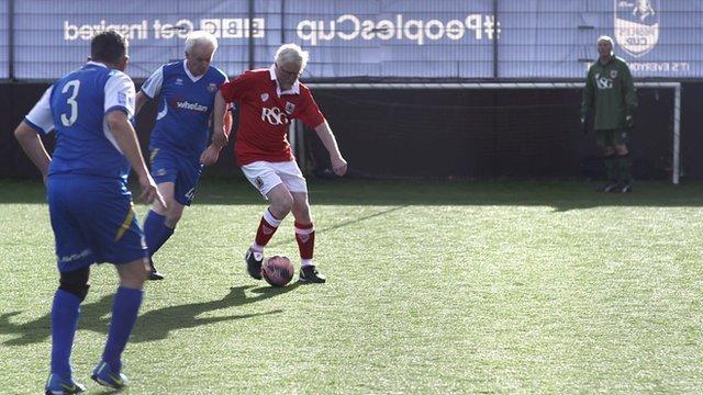 veterans playing football