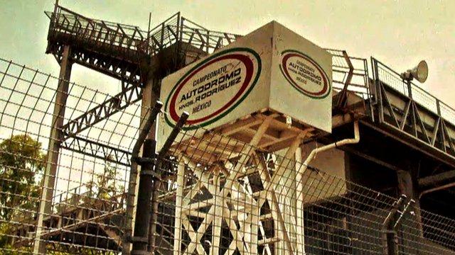 A grandstand at the Autodromo Hermanos Rodriguez