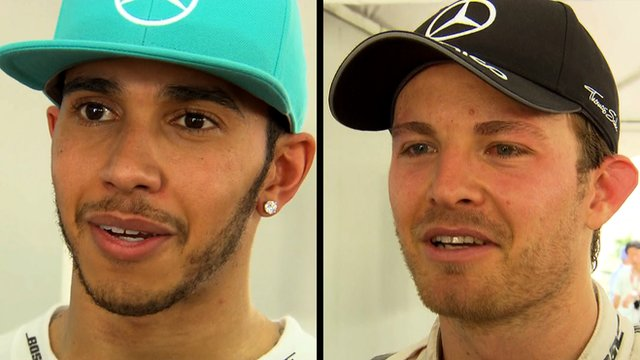Mercedes drivers Lewis Hamilton and Nico Rosberg