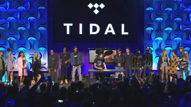 Music artists at Tidal re-launch