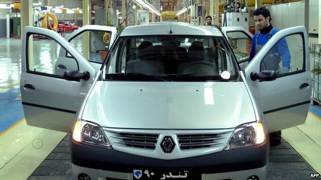 Iranian car factory