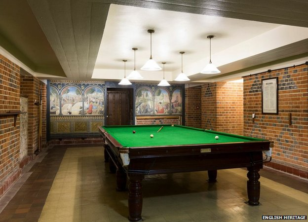 The billiards room at Eltham Palace