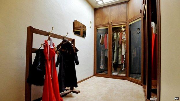 Virginia Courtauld's walk-in wardrobe at Eltham Palace