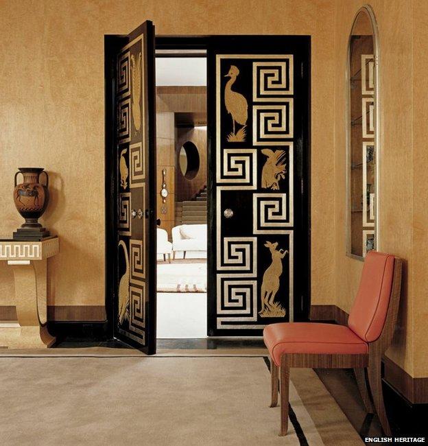 Art-deco doors in Eltham Palace