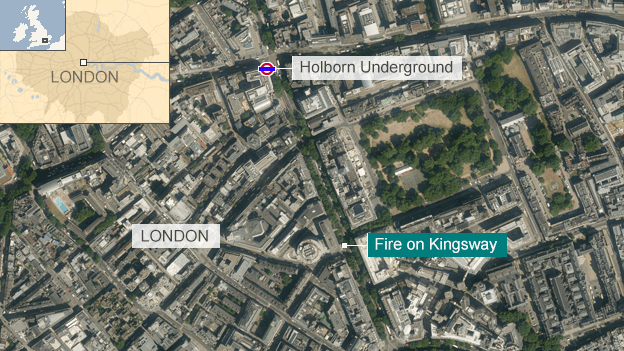 Holborn fire location