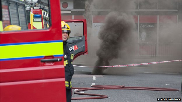 Holborn fire - firefighters