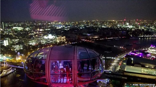 Night view of the area affected by Holborn power cut