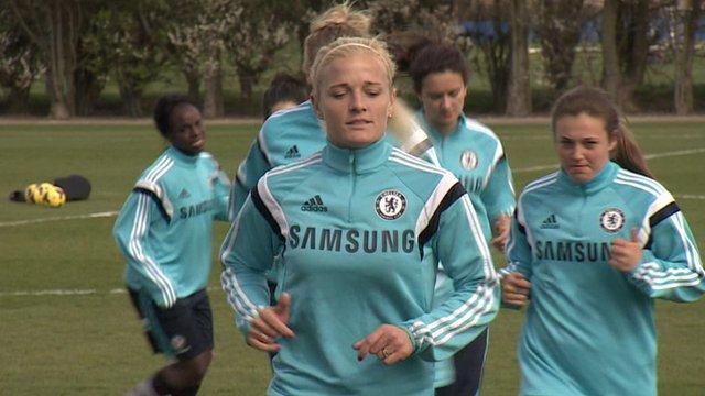 Chelsea Ladies in training