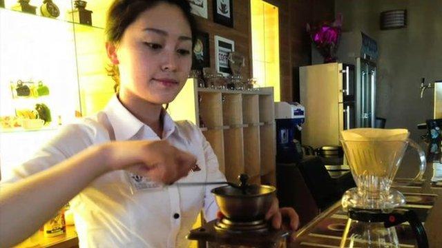 North Korean coffee shop