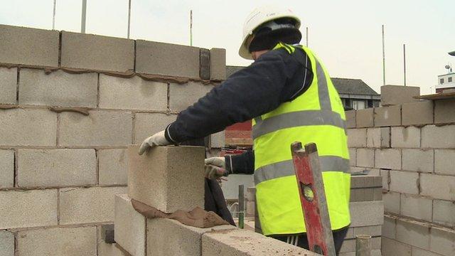 Man building wall