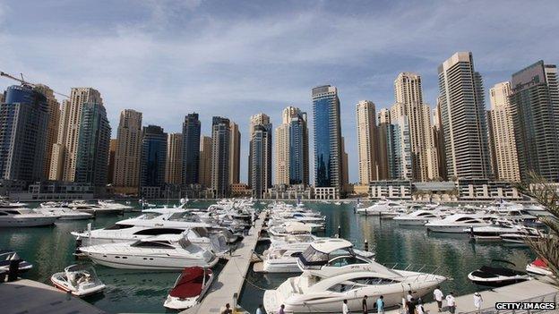 High rise apartments in Dubai