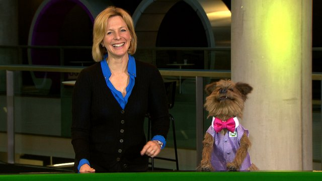Hazel Irvine is interviewed by CBBC's Hacker