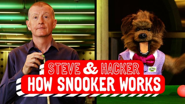 Steve Davis and CBBC's Hacker T Dog