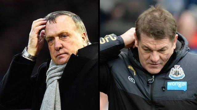 Dick Advocaat & John Carver discuss the Wear-Tyne derby