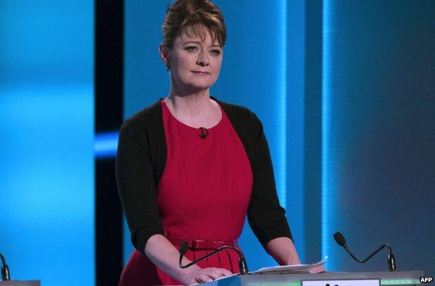Leanne Wood during the debate