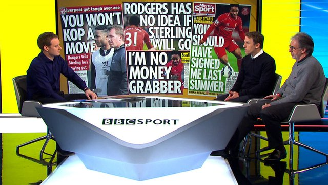 Newspaper headlines related to Raheem Sterling's move away from Liverpool