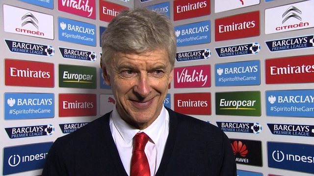 Arsenal manager Arsene Wenger speaking following his side's 4-1 win over Liverpool