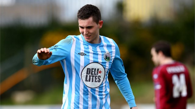 Warrenpoint hat-trick hero Daniel Hughes
