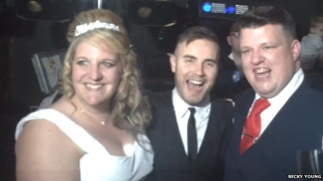 Gary Barlow at Danielle and Daryl Jones' wedding