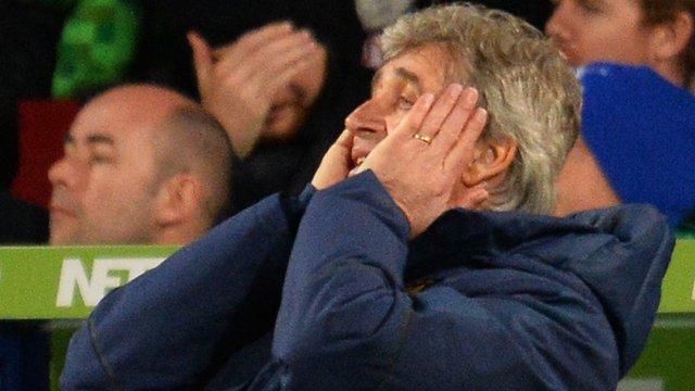Premier League: Crystal Palace 2-1 Manchester City: Pellegrini criticises referee