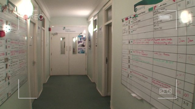 Wendy Mitchell's former office corridor