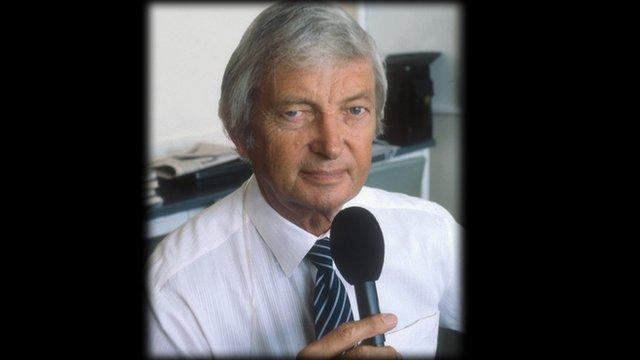 Cricket commentator Richie Benaud