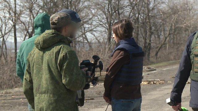 Natalia Antelava in Donetsk
