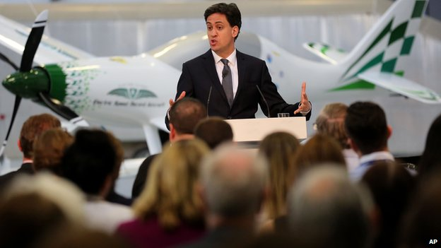 Ed Miliband speaking at the National Composite Centre in Bristol