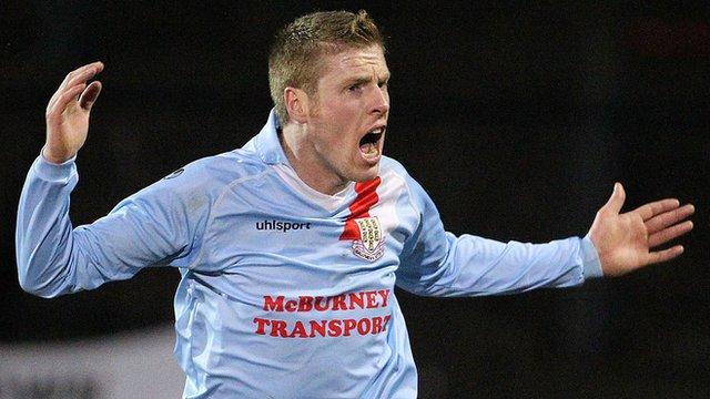 Darren Boyce of Ballymena United