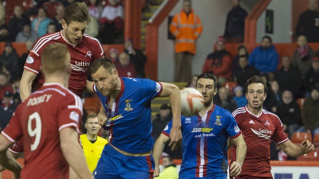 Ash Taylor scores for Aberdeen against Inverness