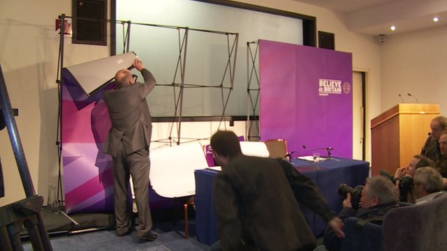 UKIP scenery collapses at press conference