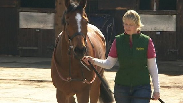 Hampshire trainer Emma Lavelle with Court By Surprise