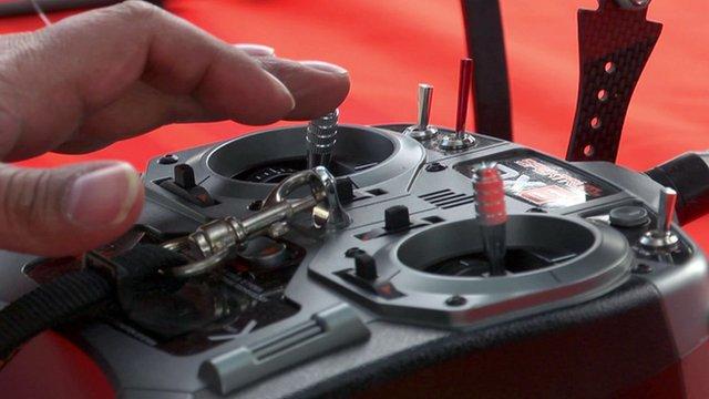 A remote control for a drone